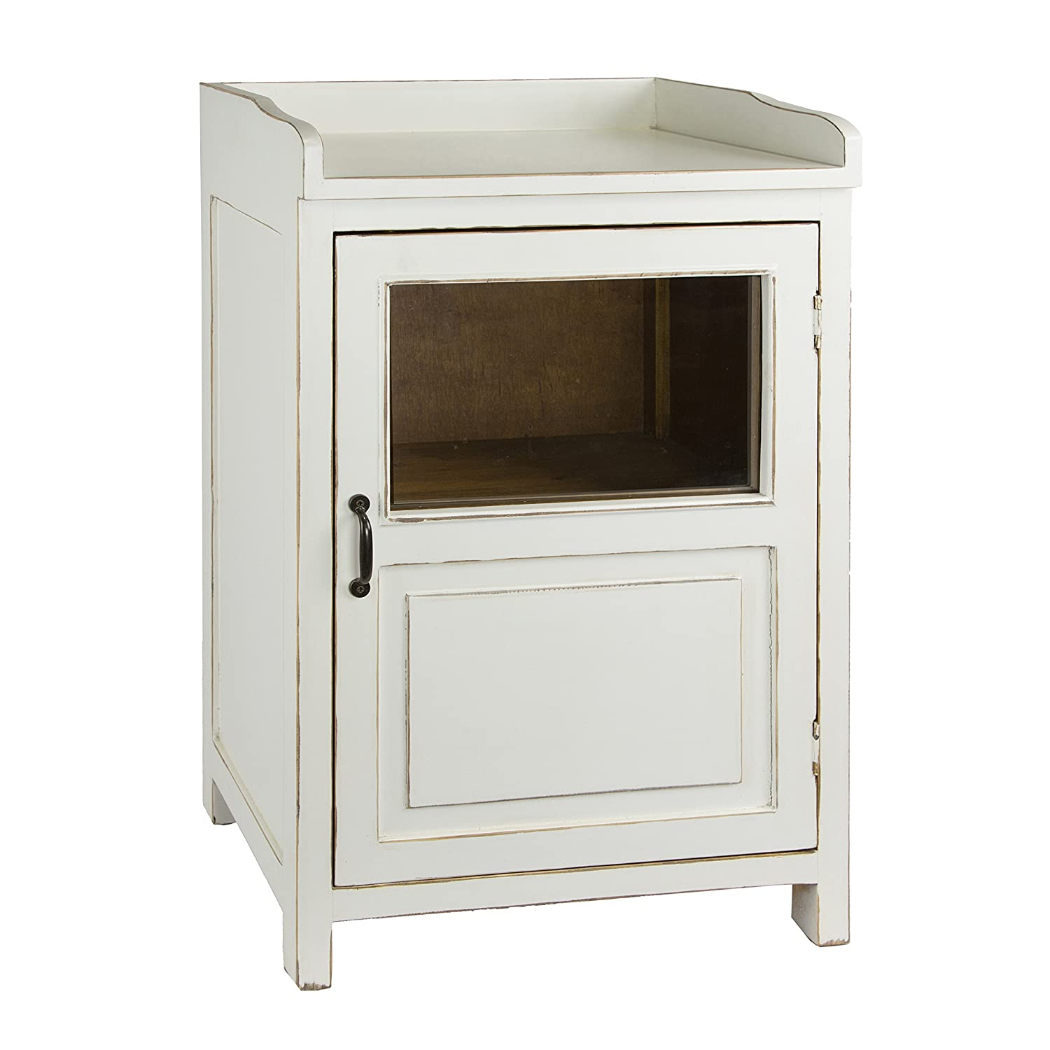 Porthos Home CB102A WHT Country-Style Display Cabinet White