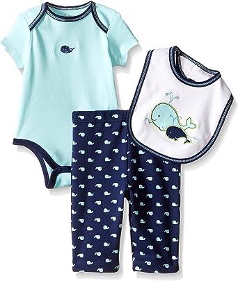 Little Me Baby Boys 3 Pack Body Suit Pants