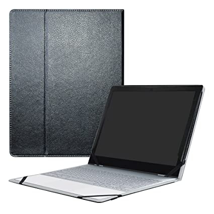 huge selection of 9e3ee e58db Google Pixelbook Case,Mama Mouth PU Leather Folio Carring Cover for 12.3