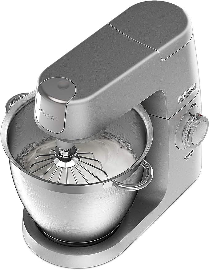 Kenwood Chef XL KVL6320S - Robot de cocina multifunción, bol de metal de 6.7 L, varillas para mezclar, amasar y batir, indicador de velocidades, 1400 W, color plata: Amazon.es: Hogar