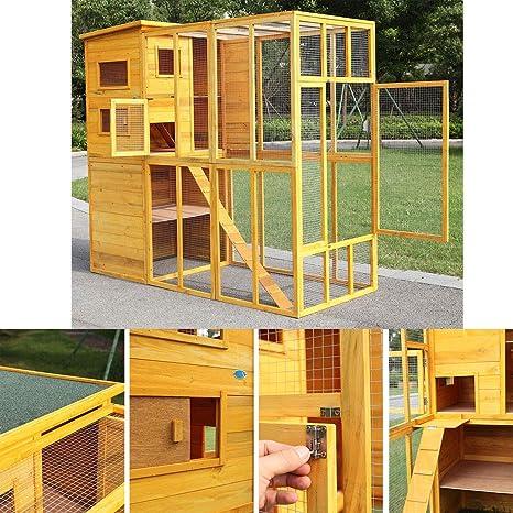 Amazon.com: jaxpety Cat Casas Jaula para gatos Enclosure Run ...