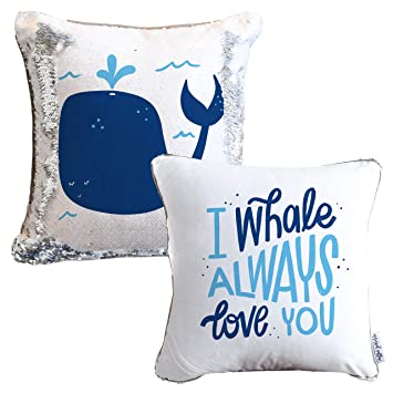 Amazon.com: I Whale Always Love You - Cojín decorativo ...