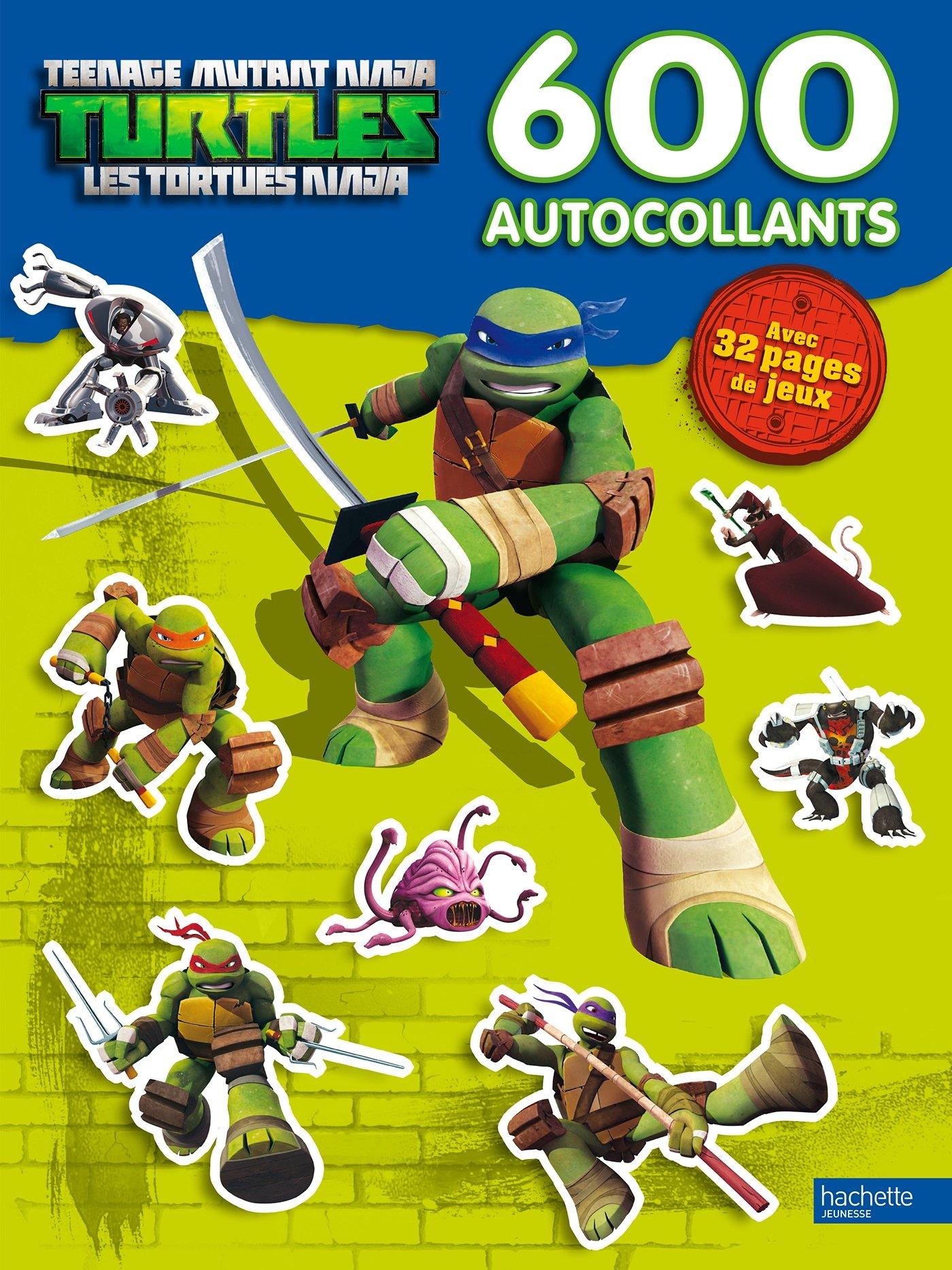 Tortues Ninja : 600 autocollants: 9782012205482: Amazon.com ...