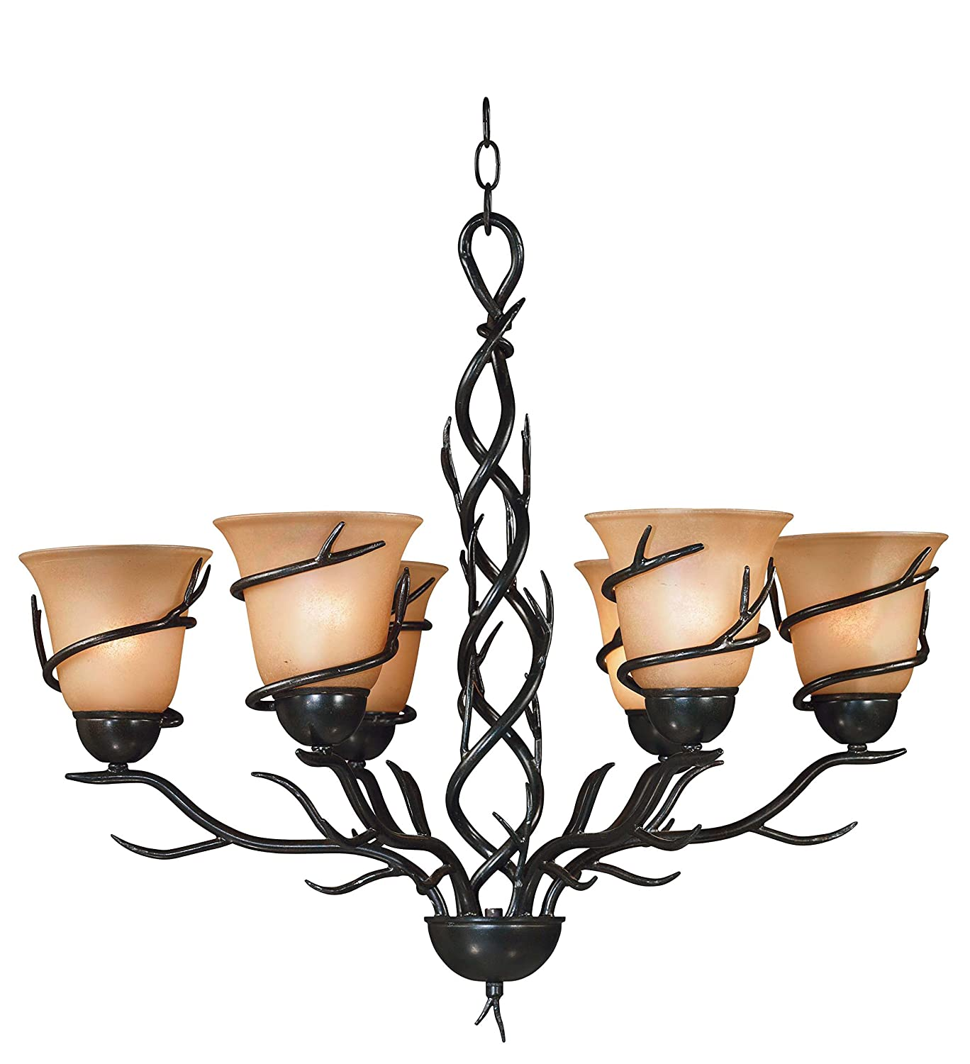 Kenroy Home BRZ Twigs 6 Light Chandelier Blackened Bronze