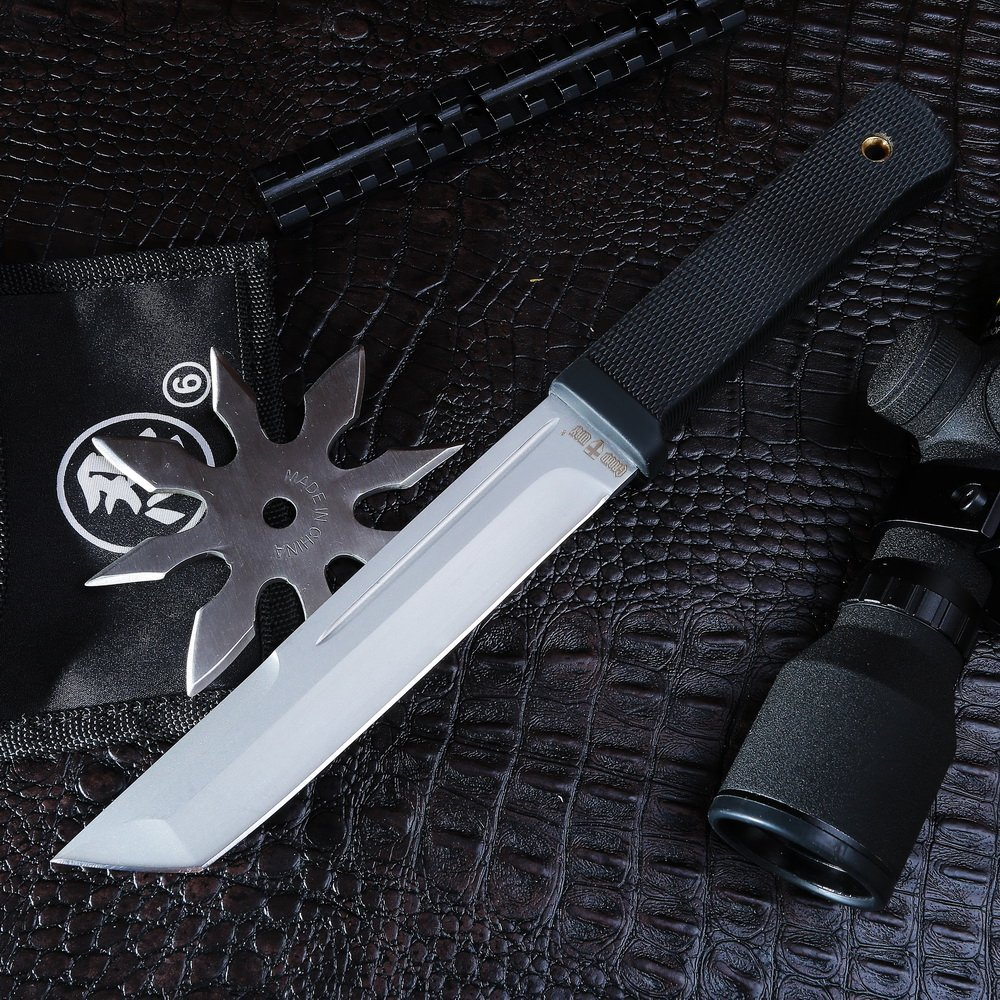 Grand Way Tanto Fixed Blade Knife - Stainless Steel Japanese Tanto Blade Knives - Black Tactical Military Survival Traditional Ninja Knife with Sheath 2787 U-A by Grand Way (Image #8)