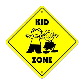 amazon kid crossing signゾーンxing children child play slow be safe