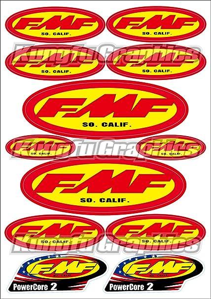 Motocross Decals Stickers Sheet Car ATV Skateboard Helmet Dirt Bike Graphics FMF
