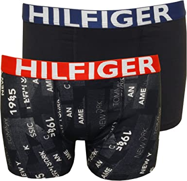 Navy Tommy Hilfiger 2-Pack Bold Hilfiger Logo Skyline Boys Boxer Trunks
