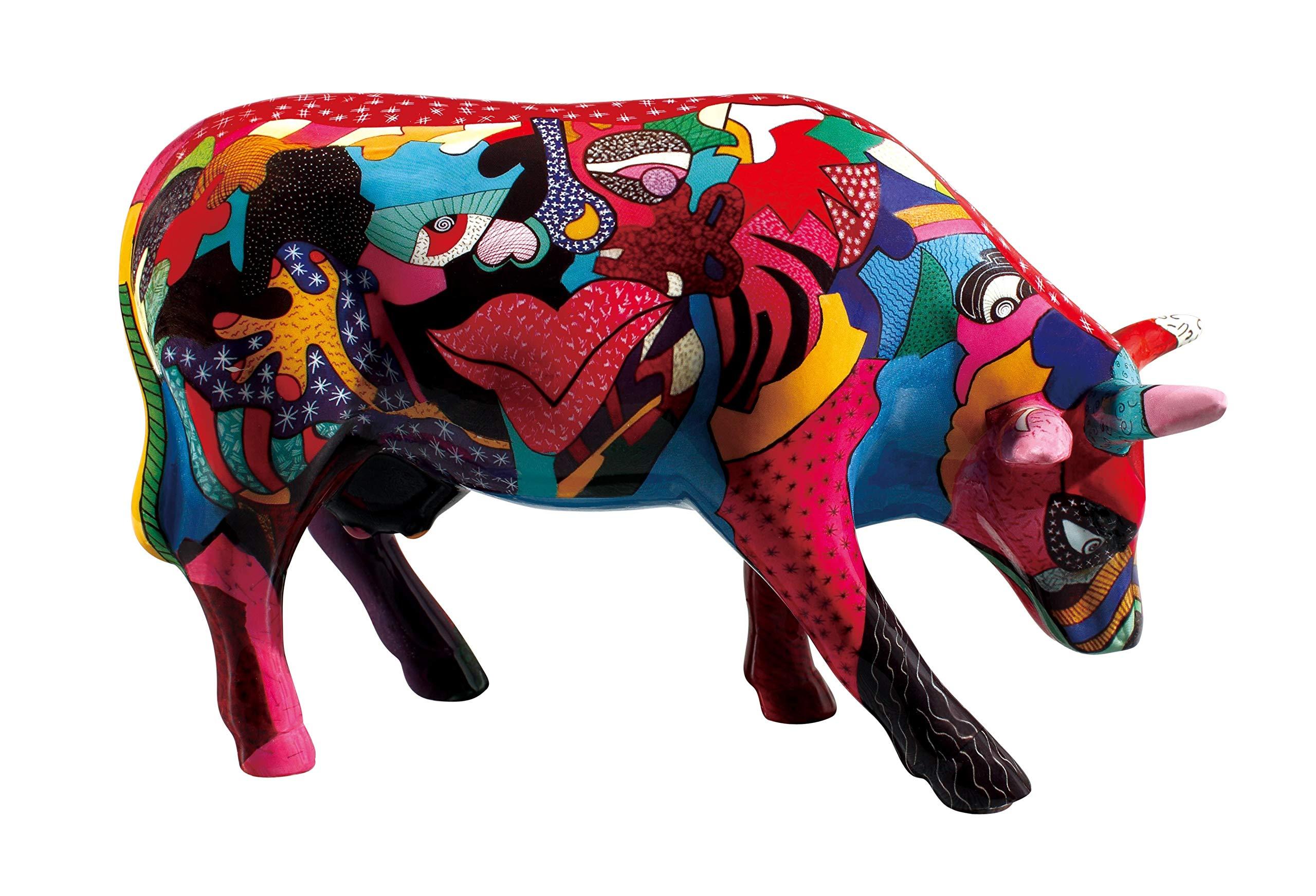 Cowparade Cow - Partying wiht Picowsso (M) - Ceramic, 16,5x11cm - Cowparade Kuh #47423