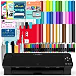 Silhouette Black Cameo 4 Starter Bundle with 38 Oracal Vinyl Sheets,