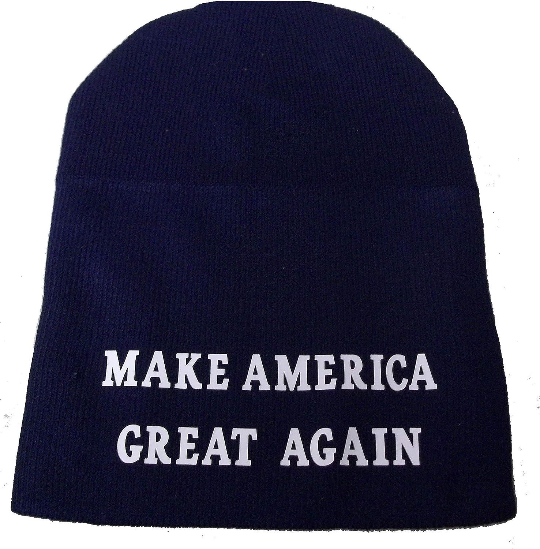 TRUMP MAGA SKI CAP HAT  MAKE AMERICA GREAT AGAIN BEANIE USA FLAG RED BLUE
