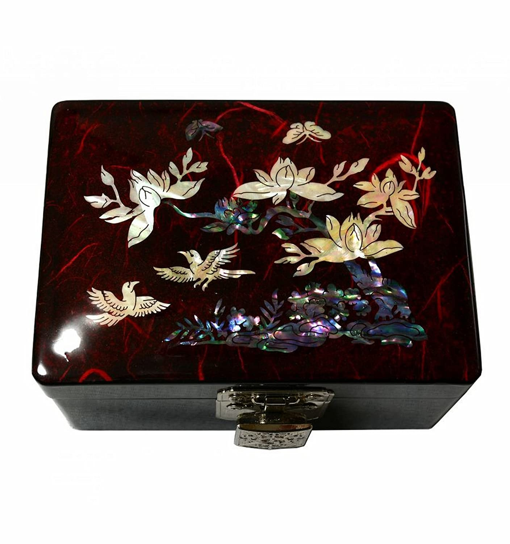 Amazoncom Cute Red Jewelry Box for Girls Mirror Korean Unique