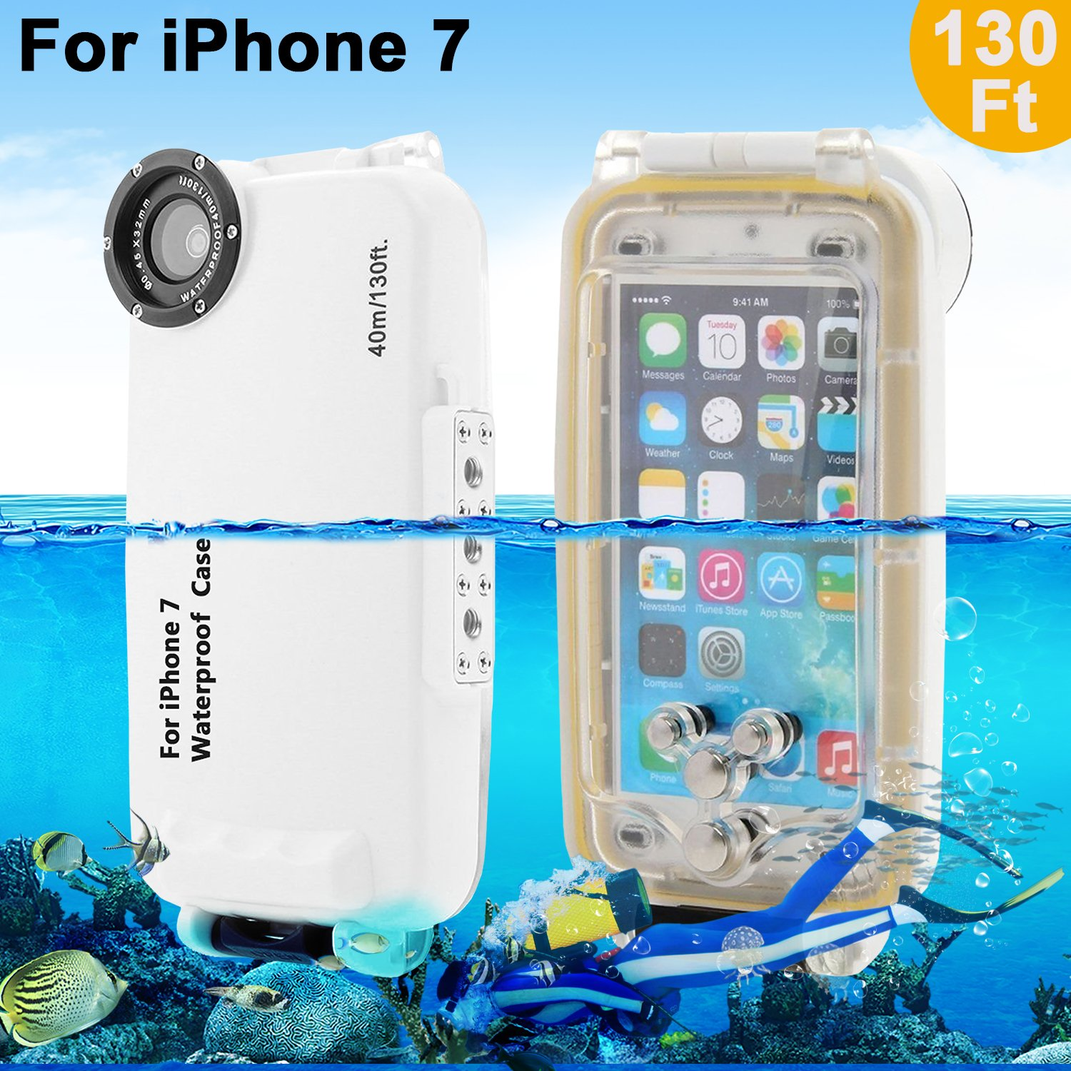Underwater Waterproof Case for iPhone 7 , Professional Diving Case ...