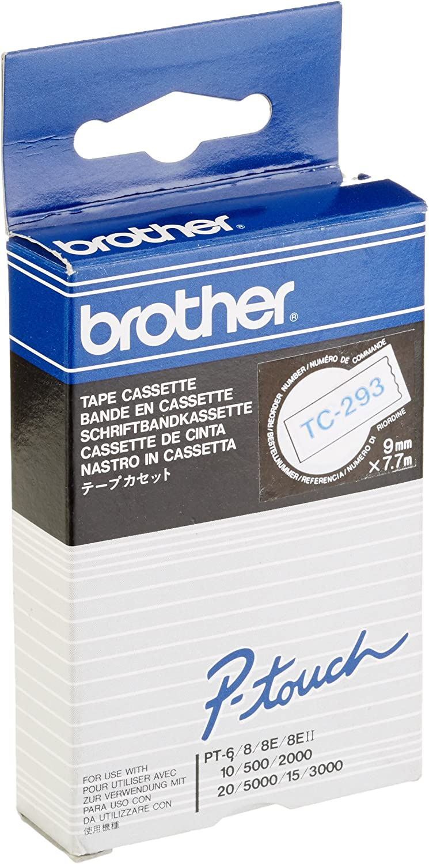 - 1 pcs. blue Brother Roll white Printer tape 0.9cm x 7.7m