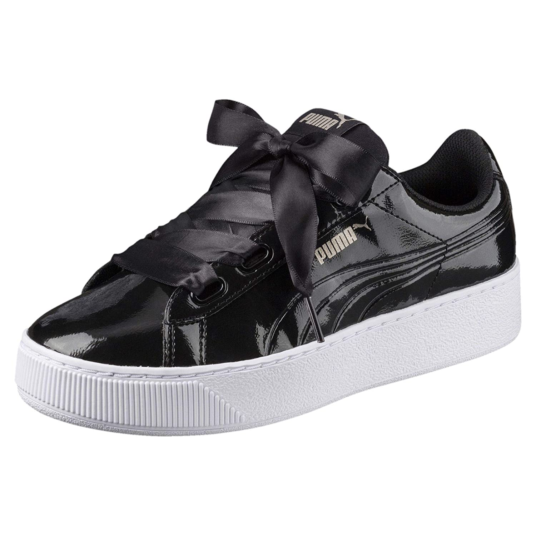 Puma Women Vikky Platform Ribbon P Black : Amazon.in: Shoes