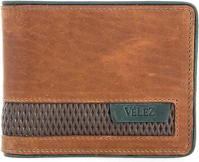 Amazon.com: VELEZ billetera de cuero colombiano genuino para ...