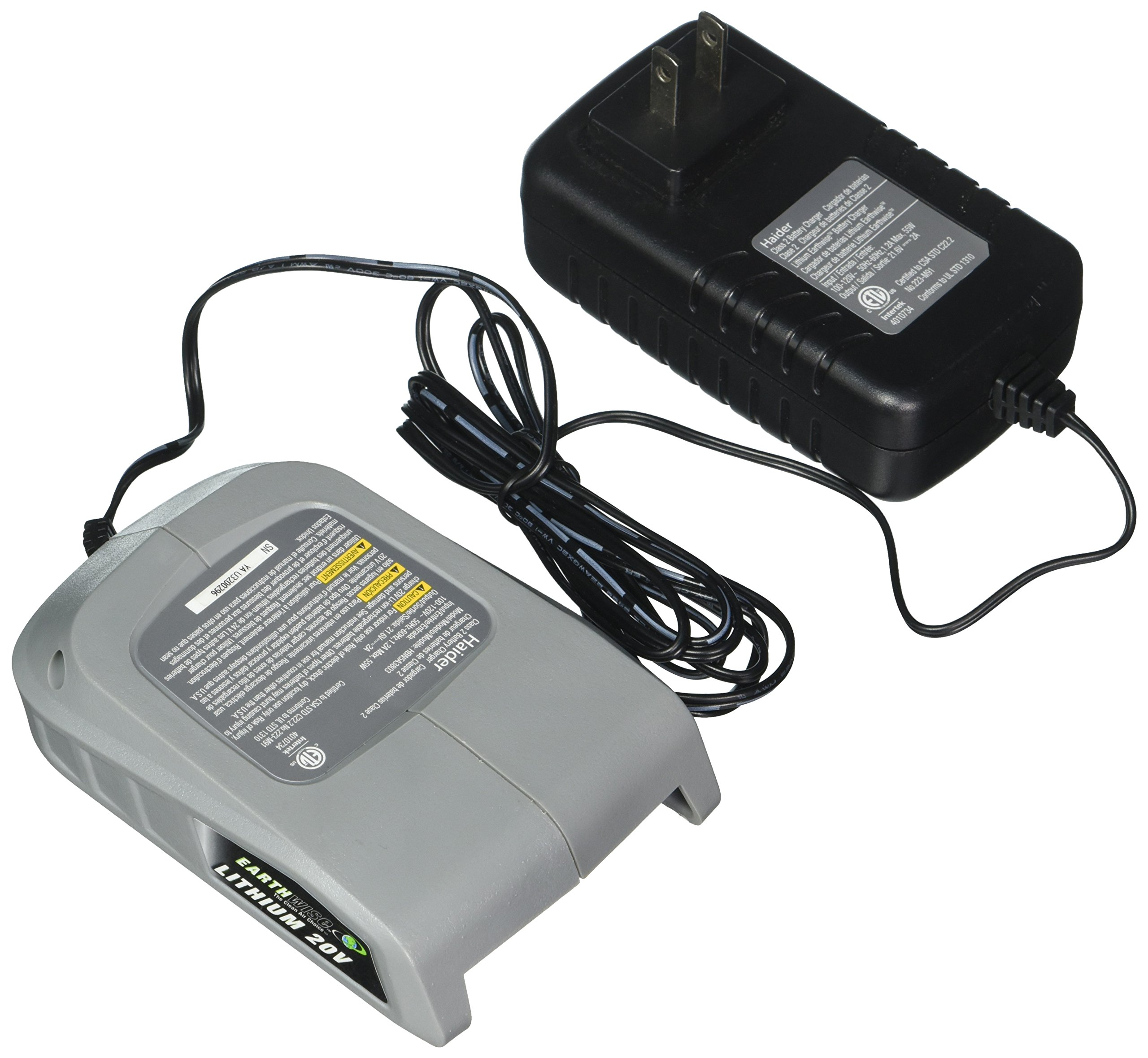 Earthwise CHL90020 20-Volt Lithium Ion Battery Charger - Charges All 20-Volt Batteries