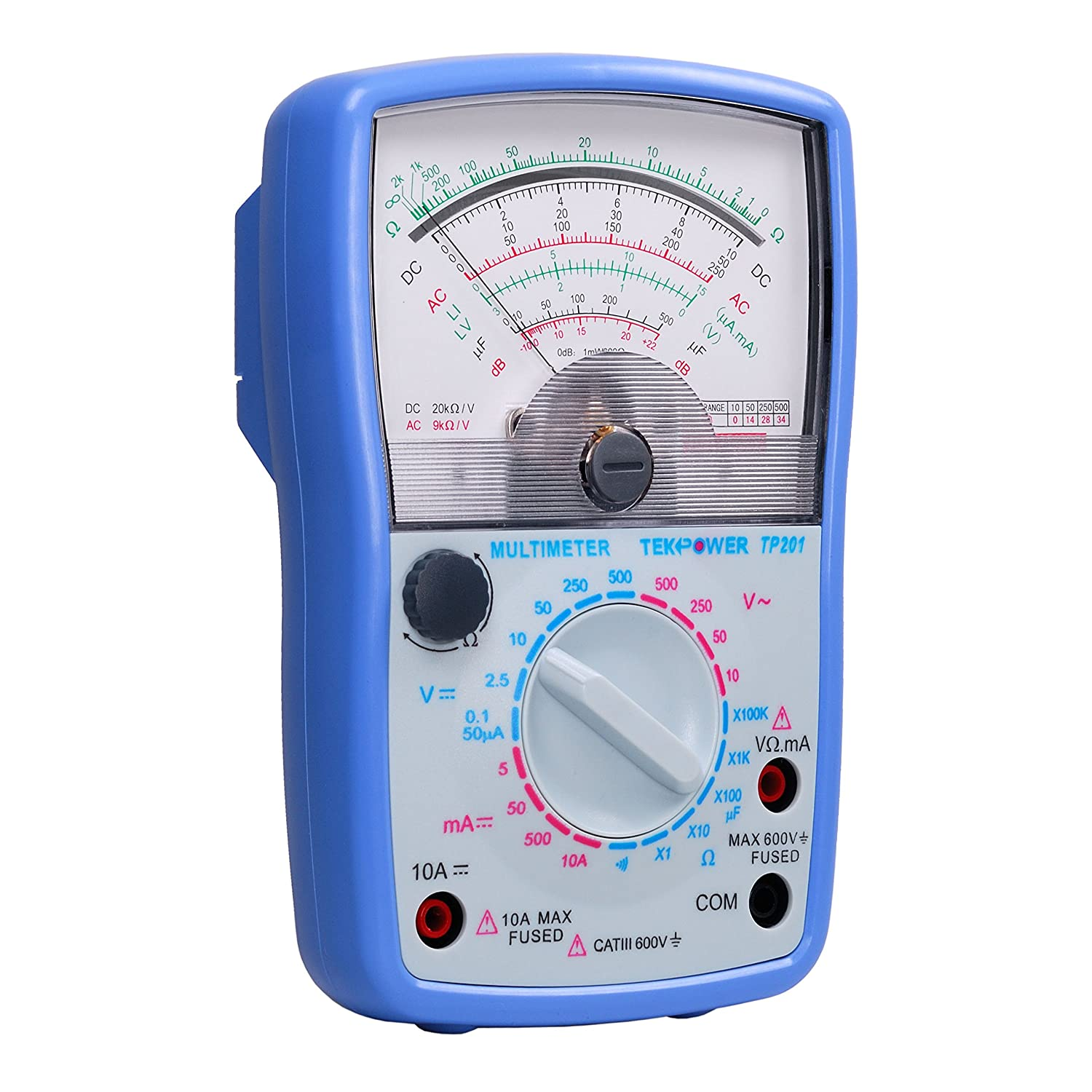for students For school Tekpower TP201 20-range Analog Multimeter with Capacitance Measurement and Continuity Test