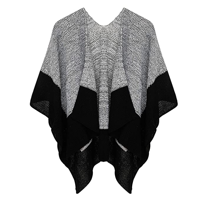 Womens Poncho Sweater Knit Blanket Shawls Wraps Cardigans Capes Gifts for  Women Mom