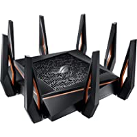 ASUS Rapture GT-AX11000 wireless router Tri-band (2.4 GHz / 5 GHz / 5 GHz) Gigabit Ethernet Black Rapture GT-AX11000…