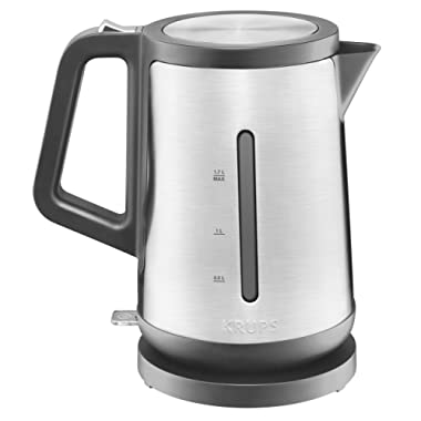 KRUPS BW442D Control Line Electric Kettle with Auto Shut Off and Stainless steel Housing, 1.7-Liter, Silver