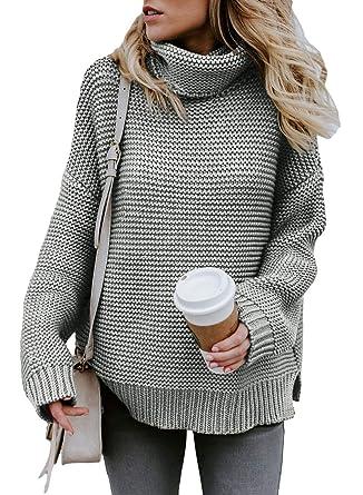 moderne Techniken unschlagbarer Preis schön und charmant Dokotoo Damen Sweatshirt Hoher Kragen Pullover Langarm Winter Elegante Warm  S-XXL