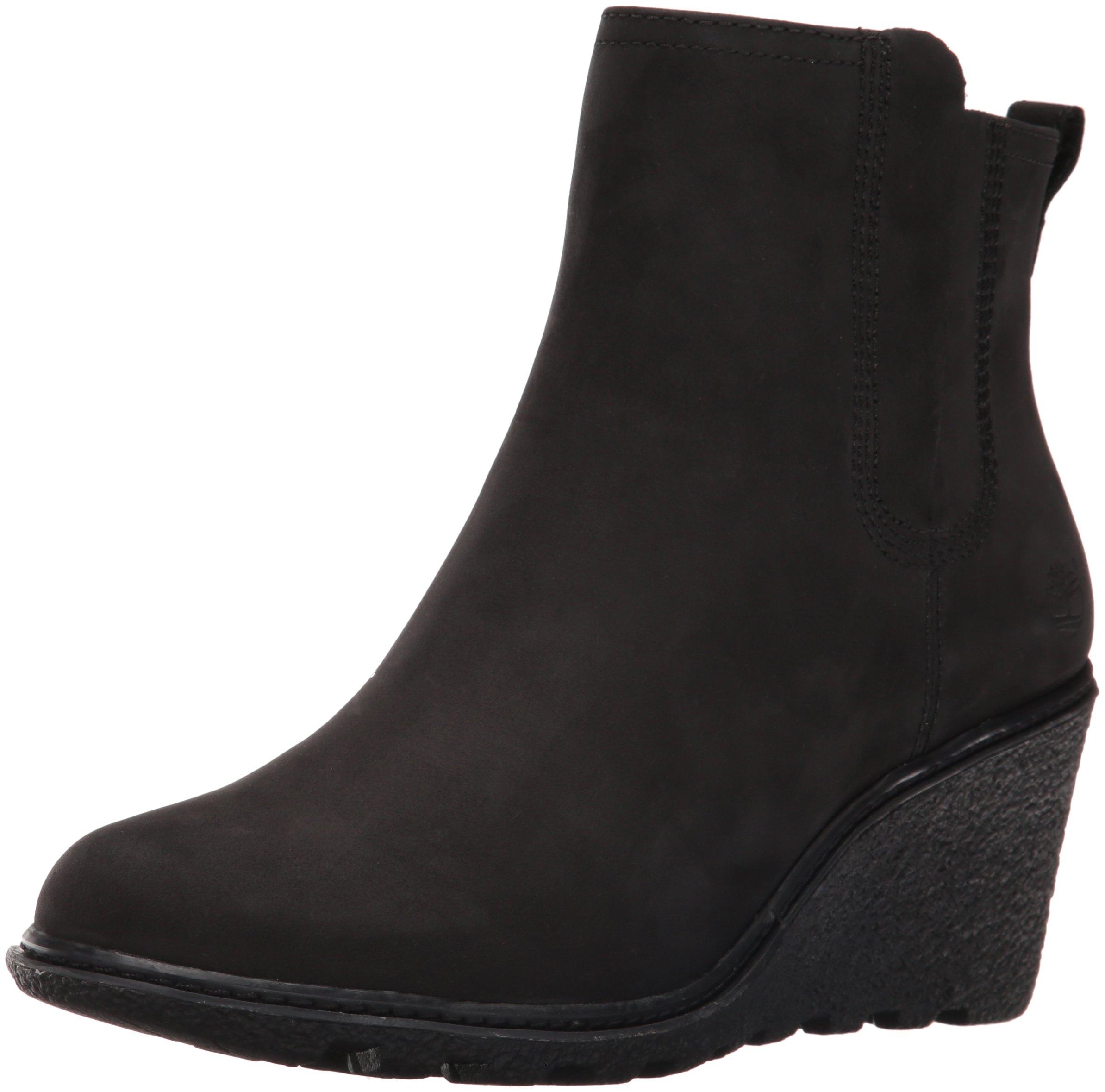 Timberland Women's Amston Chelsea Boot,Black Nubuck,9 M US