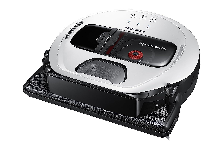 Samsung SR10M701IUW aspiradora robotizada Sin bolsa Negro, Blanco 0,3 L - Aspiradoras robotizadas (Sin bolsa, Negro, Blanco, Forma en D, LED, 0,3 L, ...