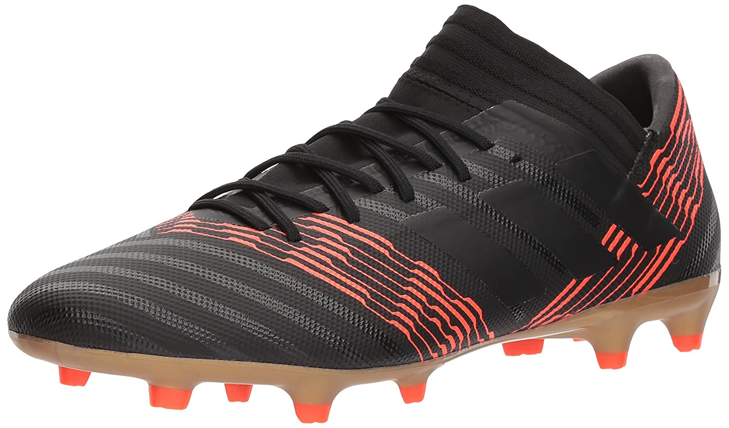 Amazon.com | adidas Performance Mens Nemeziz 17.3 FG Soccer Shoe, Core Black/Core Black/Solar Red, 10.5 M US | Soccer