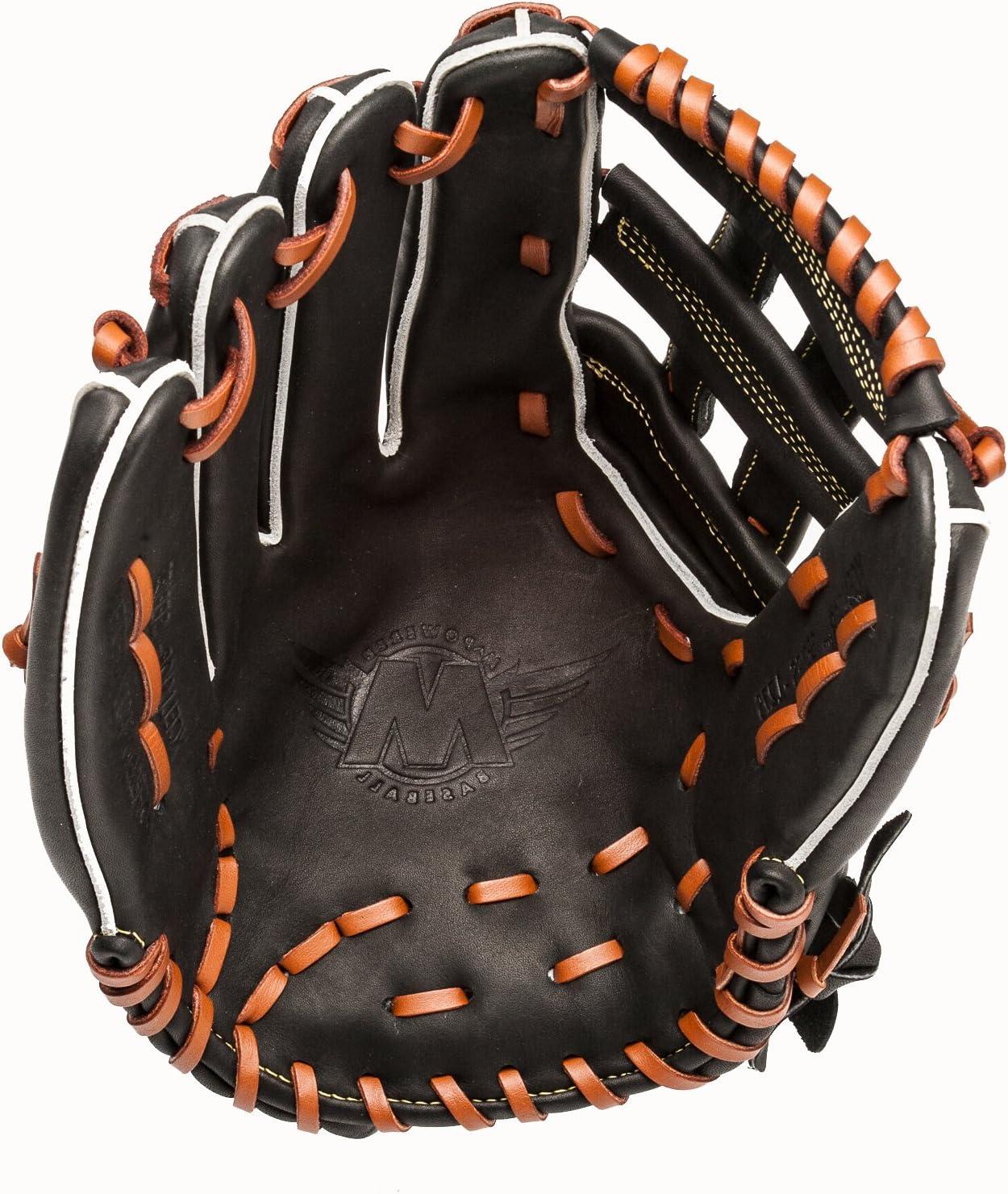 Mpowe赤野球Xcellsiorシリーズ12.75-inch h-web Outfielder 's野球グローブ ブラック