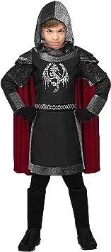 WIDMANN Disfraz de Caballero Medieval Oscuro Infantil M-(8/10 ...