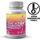 Nourish Labs Organic Prebiotic Probiotic Supplement for Women. Clincal Proven Mood Boosting Dual Action Probiotics with Prebiotics and Cranberry. No Refrigeration Needed.