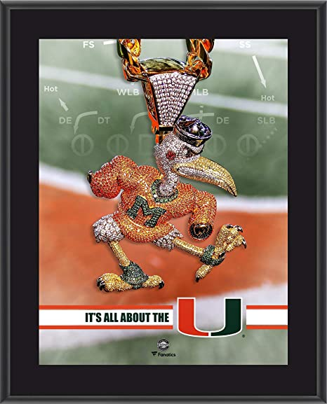 Image Unavailable. Image not available for. Color  Miami Hurricanes  10 quot  x 13 quot  2018 Turnover Chain Sublimated Plaque ... 43a3f85ce