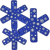 BYKITCHEN Christmas Pan Protectors, Set of 12 & 3 Different Sizes, Pot Separators Protectors with Snowflakes, Blue Felt…