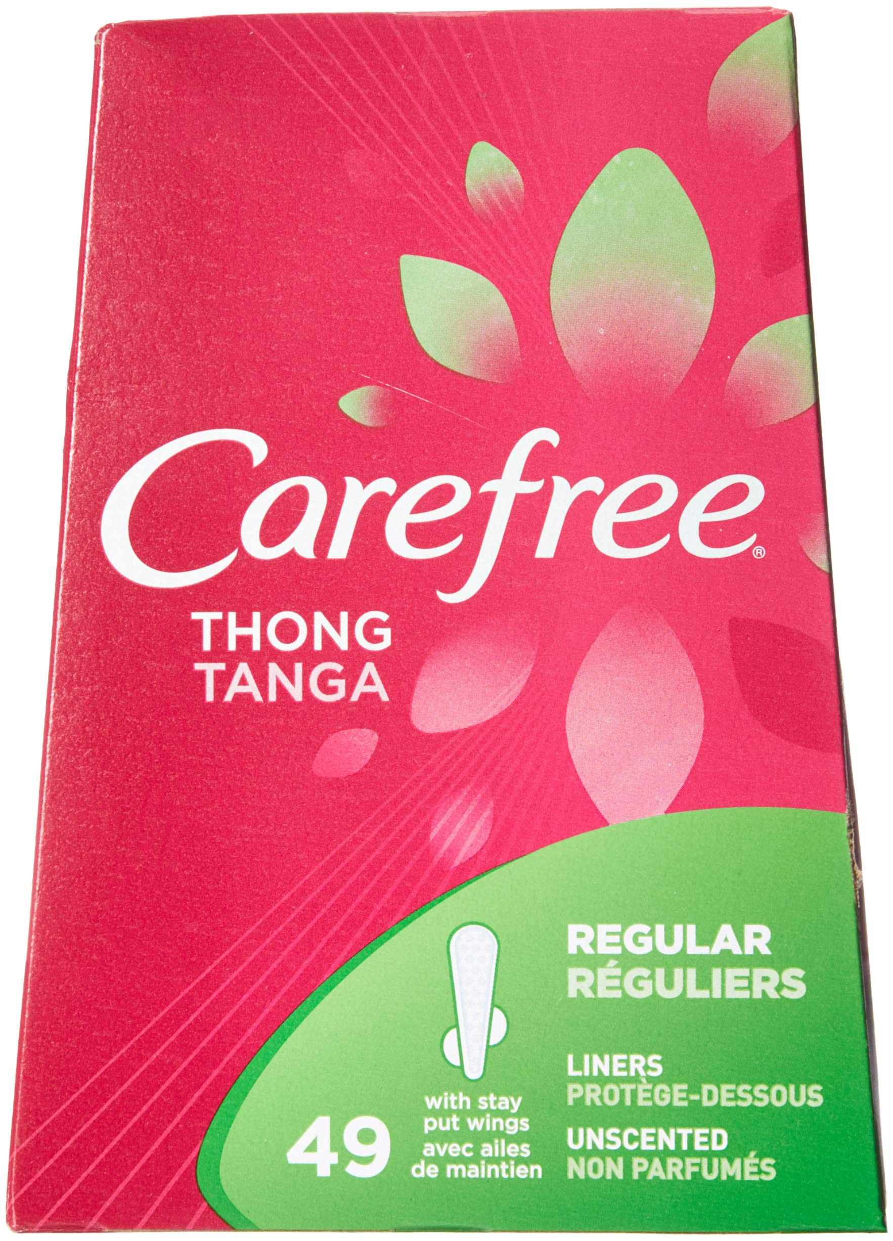 Carefree Thong Pantiliners-Unscented-49 ct (Pack of 3) by Carefree