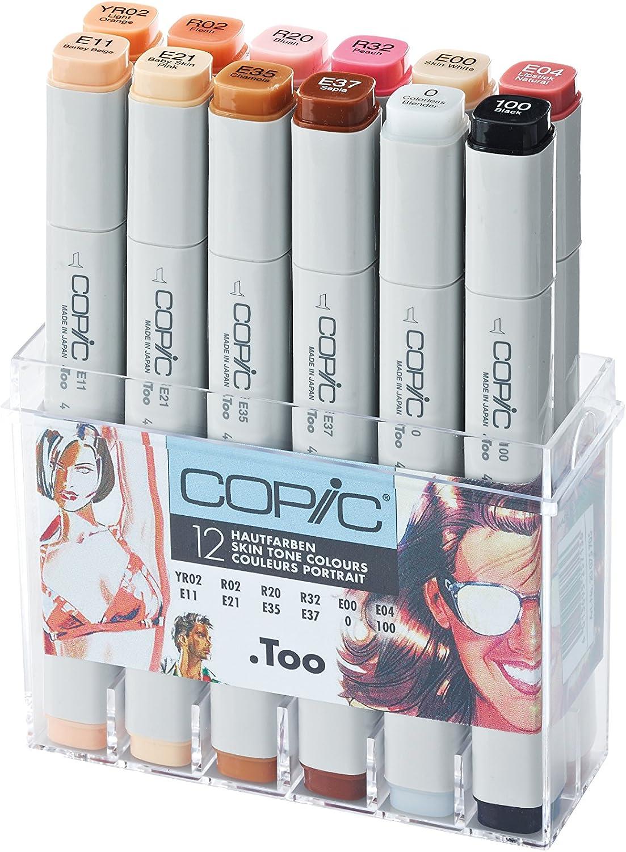 Copic Marker Set – Color Gris Cálido (Pack de 12): Amazon.es: Oficina y papelería