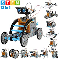 Sillbird STEM 12-in-1 Education Solar Robot Toys -190 Pieces DIY Building Science...