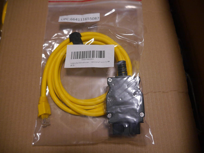 Goldplay Enet Rj 45 Kabel Anschlusswerkzeuge Ethernet Zu Obd Schnittstellenkabel Codierung Für F Serie Für Bmw Auto