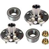 DTA 2 Rear Wheel Hub Wheel Bearing Kits Left Right Fits Lexus IS300 GS300 GS400 GS430 SC430 - D930414+NT511028 x2 With Nuts