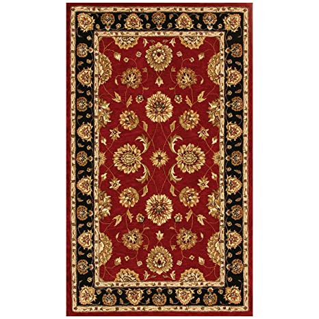 Amazon.com: Jewel rojo/negro alfombra oriental: Kitchen & Dining