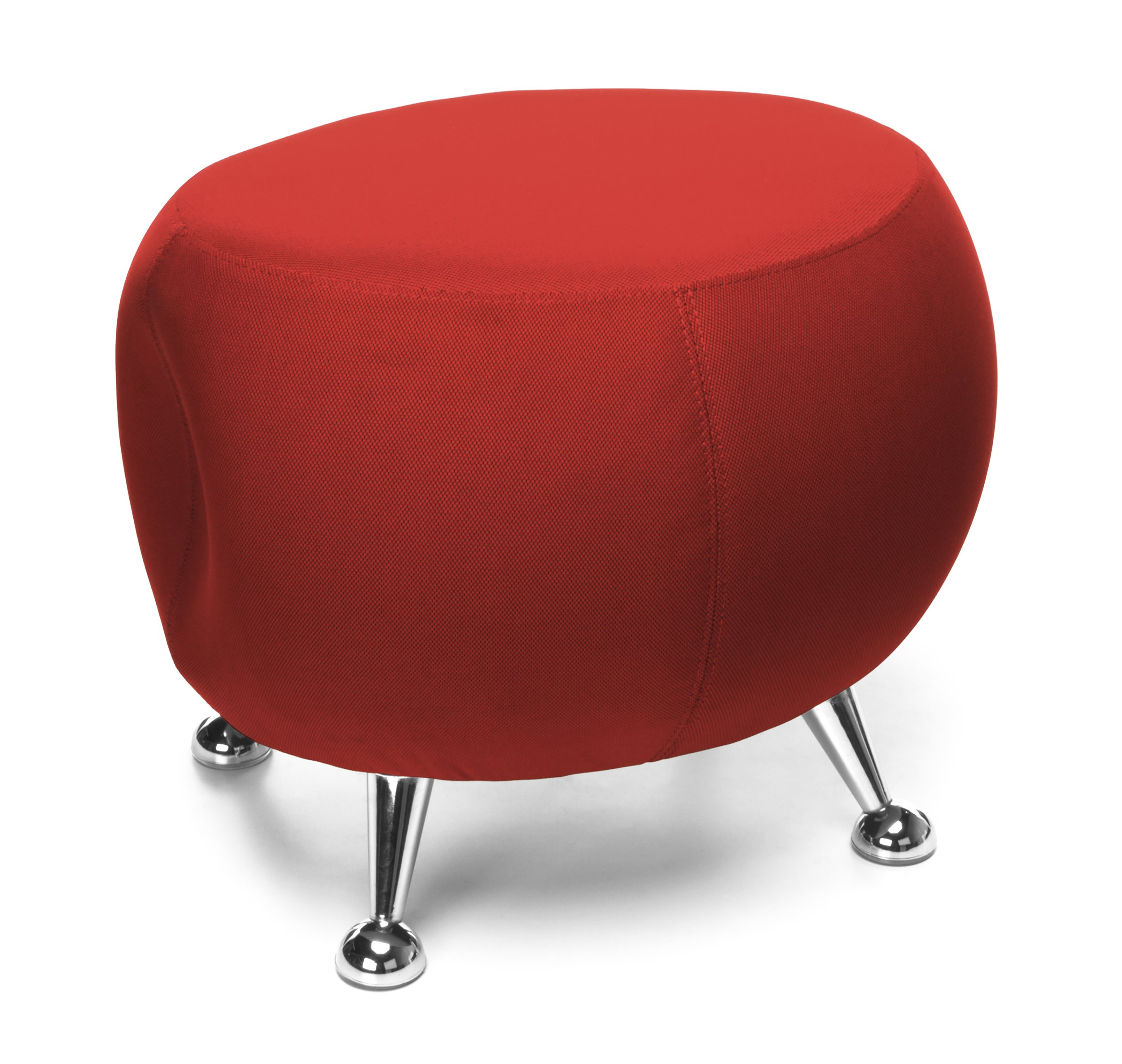 OFM Jupiter Series Fabric Ball Stool, in Red by OFM
