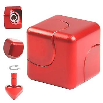 infinity cube amazon. jzh metal aluminum infinity cube fidget hand spinner finger spin toys, removable gyro rubik amazon