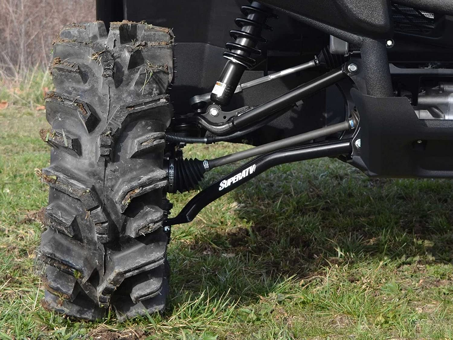 Amazon.com: SuperATV Yamaha Viking 700 / Wolverine High Clearance Front  Lower A-Arms (2013+) - Black: Automotive
