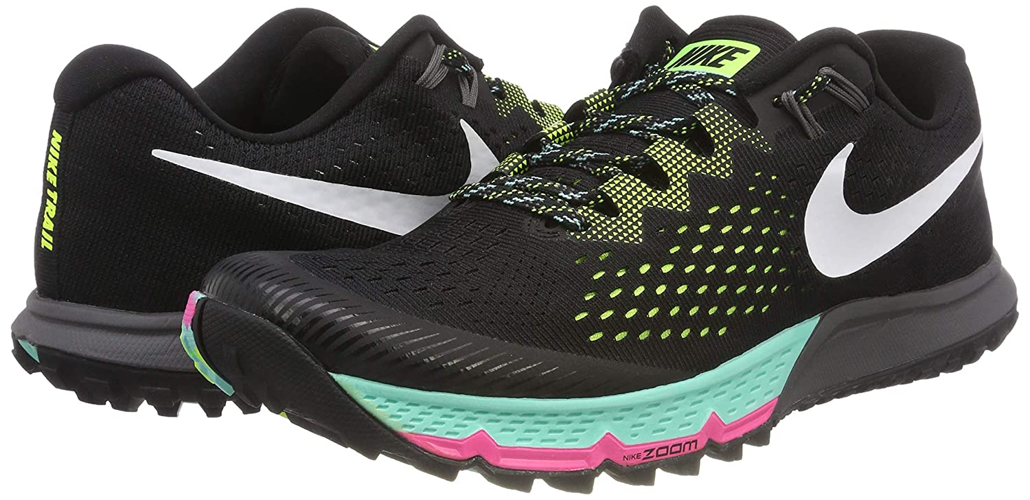 1e02e53a6895 Nike Mens Zoom Terra Kiger 4 Trail Running Shoes Black White Volt Size 10   Buy Online at Low Prices in India - Amazon.in