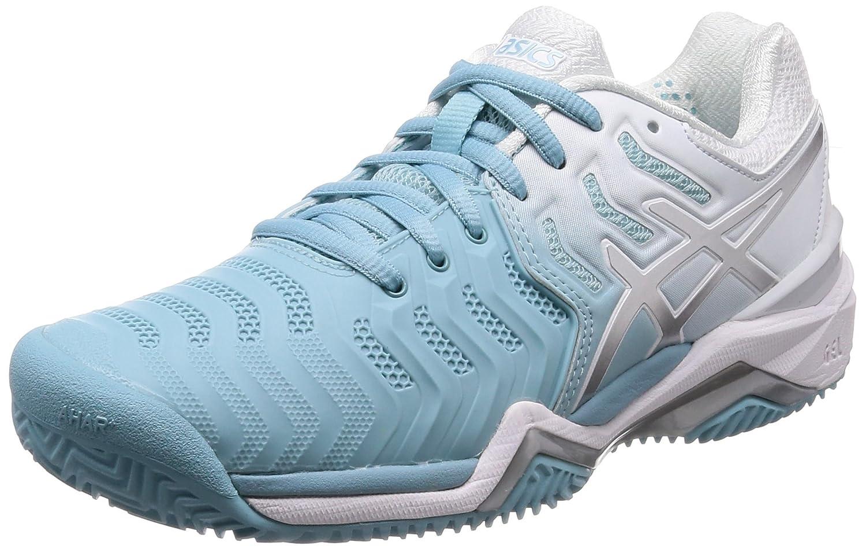 MultiColoreeee (Porcelain blu argento bianca 1493) ASICS Gel-Resolution 7 Clay, Sautope da Tennis Donna
