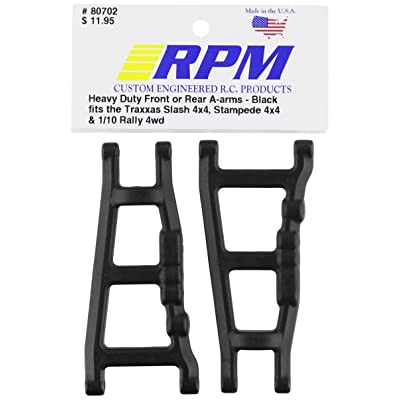 RPM 80702 Front/Rear A-Arms Black Slash/Stampede 4x4 Black: Toys & Games