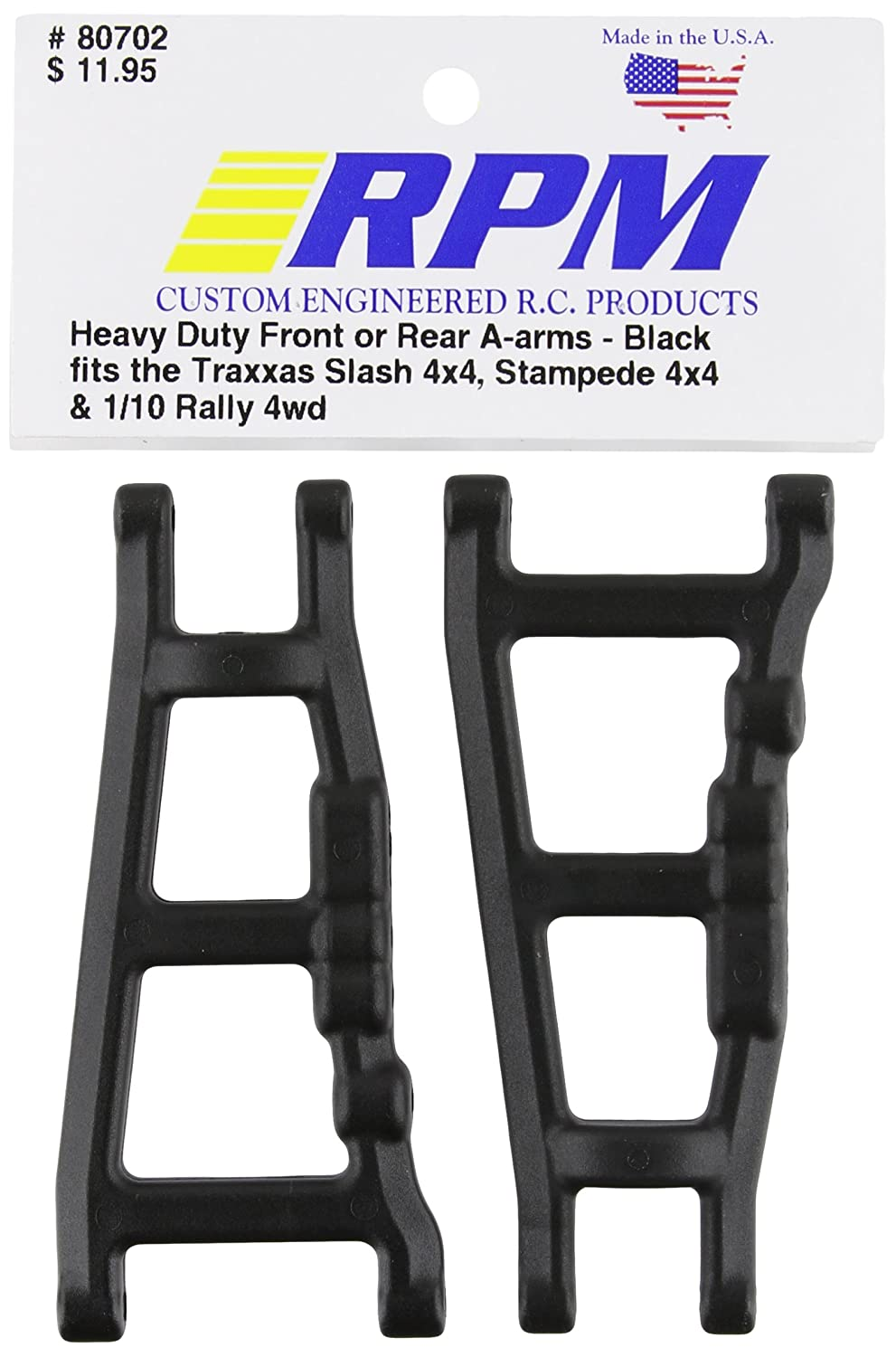 RPM 80702 Front/Rear A-Arms Black Slash/Stampede 4x4 Black 81pB5OfJ3rL