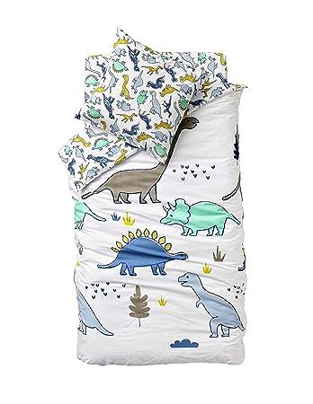 Vertbaudet Kinder Bettwäsche Setdinoland Weiß 140x150 Kissen