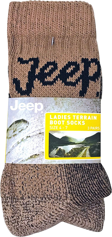 3 Ladies Chunky Long Hose Wool Blend Padded Sole Walking Boot Socks UK 4-7