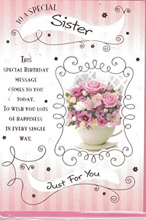 Sister Birthday Card   To A Wonderful Sister Happy Birthday Enjoy Your  Special Day   Modern